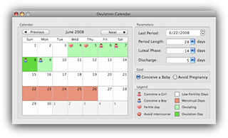 Ovulation Calendar Express on OSX
